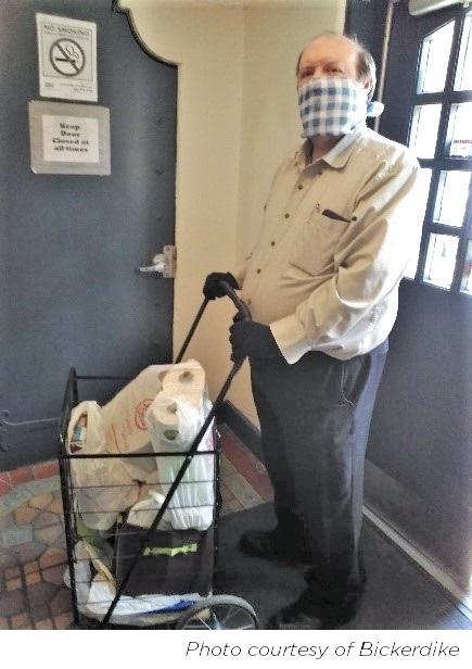 Seniors Receiving Groceries